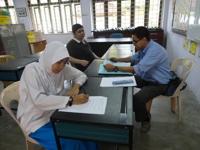 Suasana di kelas pendidikan khas